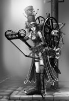 steampunk fabrick weaver by dinmoney