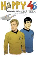Star Trek - 46th Anniversary by Kumagorochan