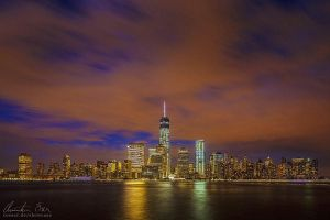 New York WTC Skyline by Nightline