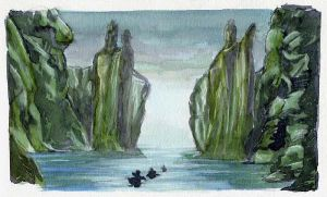 Behold the Argonath by crisurdiales