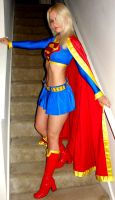 Supergirl on stairs by AlisaKiss