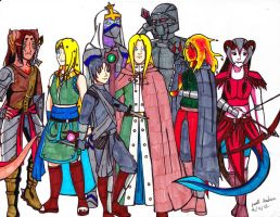 Dungeons and Dragons Party by 123arcalas