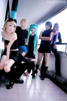 Vocaloid team cosplay 1 by yuegene