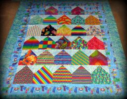House Quilt Getting Packed 2-2-13 by wiccanwitchiepoo
