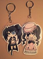 BRS and Ciel keyring's by QueenJellybeany