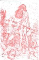 Elektra LIVES final pencils by MisterHardtimes
