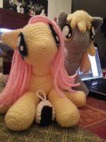 Fluttershy and Derpy by LucreziaNatas