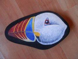 Puffin head stone by St0oiE