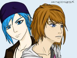 Max Caulfield And Chloe Price by UzumakiIchigoY2K