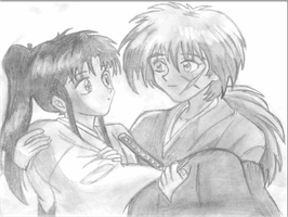 Kenshin and Kaoru x3 by Foreveryoung8