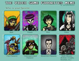 Video Game Favorites Meme by Lost-of-Existence