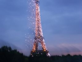 Eiffel Tower in the evening by girlslove