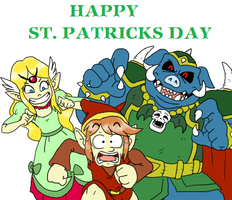 St. Paddy's day in Hyrule by pocket-arsenal