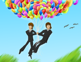 GEORGE AND RINGO AND BALLOONS by 89000007ANL