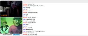 Me and Ginger Len on Omegle by KEdd-P