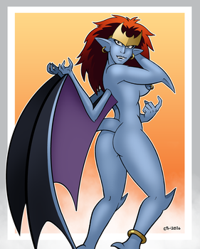 Demona Stripshow Back by curtsibling