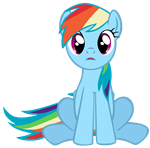 My sixth vector of Rainbow Dash. by Flutterflyraptor