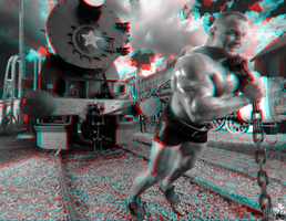 train pull 3d anaglyph by jeffrockr