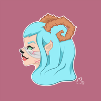 Some kind of faun with pastel colors by rehrc