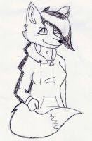 Sketch: Fox by RikuBlindFox