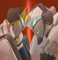 pairing scribbles JazzxProwl by crimson-nemesis