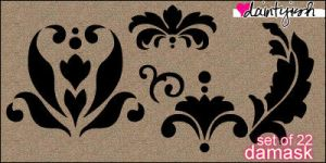 Damask photoshop brushes by daintyish