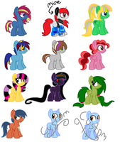 Foal Adopts. (open) 6-11 left by FallenFateAdopts