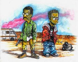The Simpsons in Breaking Bad by cpn-blowfish