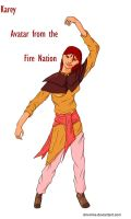 Coloured Fire Avatar Karey by DM-Mike