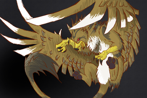 Griffon... Kinda(w/ link to solid color version) by MelNocturne