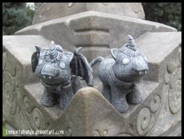 Baby Unicorn Gargoyles by ImmortalPanda