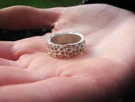 Silver clay ring by Astukee