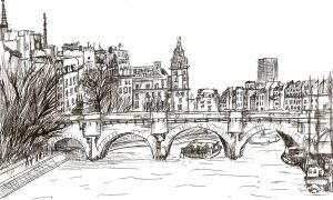 1 Hour Sketch- Paris, France by FrozenArk