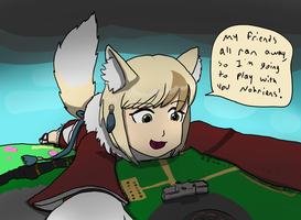 Selkie Plays With Nohr by DeferredGalaxy3