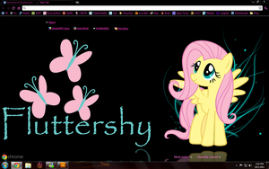 Fluttershy Black Chrome Theme by goukai