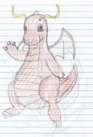 Mustached Dragonite by dei-saso-me