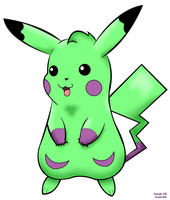 :The Green Pikachu: by princessangel83