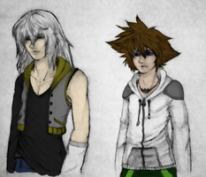 HoS: Sora and Riku stagnant by BritishMindslave