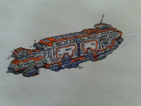 Federation transport ship. Concept-art by Johnson-jsf