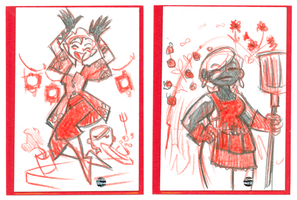 Sketch Cards: Monsters 2 by DivaLea