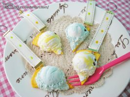 Ice cream on waffle strap by rriee
