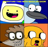 Adventure Time with Regular Show by ian2x4