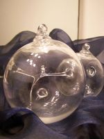 Two Witch's Ball Ornaments by KimsButterflyGarden