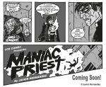 Sneek peek at MANIAC PRIEST comic by javierhernandez