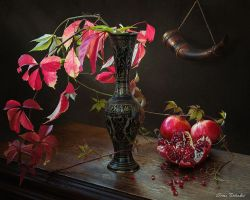 From a series of Autumn on the dresser with grenad by Daykiney