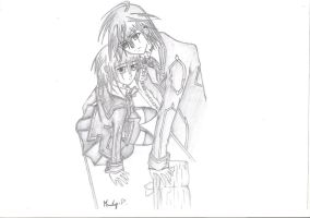 Vampire Knight- Yuki and Zero. by XxMandyChanxX