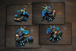 Tribal Potion Dragon by KirstenBerryCrafts