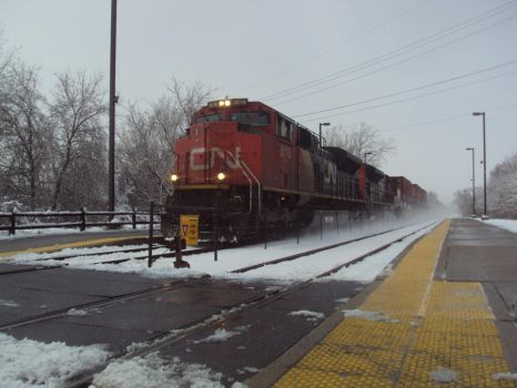 CN SD70M-2 In the Snow by justcallmesly