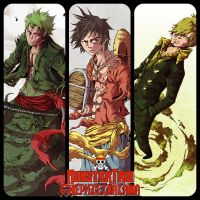 Monster Trio by OnePieceXNakama
