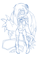 Dionaea Form 1 Sketch by Krooked-Glasses